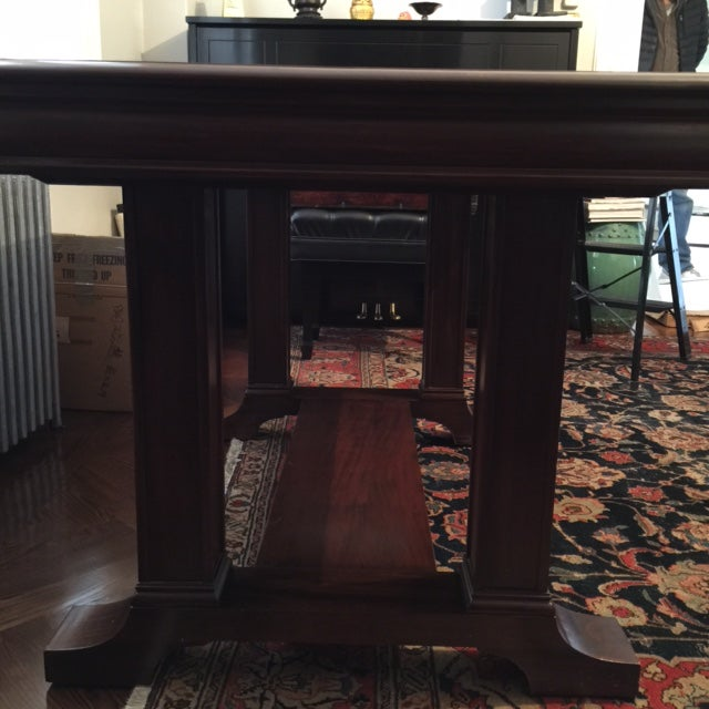 Cowan of Chicago Mahogany Library Table - Image 11 of 11