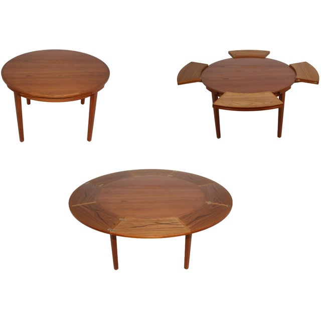 """Dyrlund """"Flip-Flap"""" Lotus Dining Table For Sale - Image 10 of 10"""