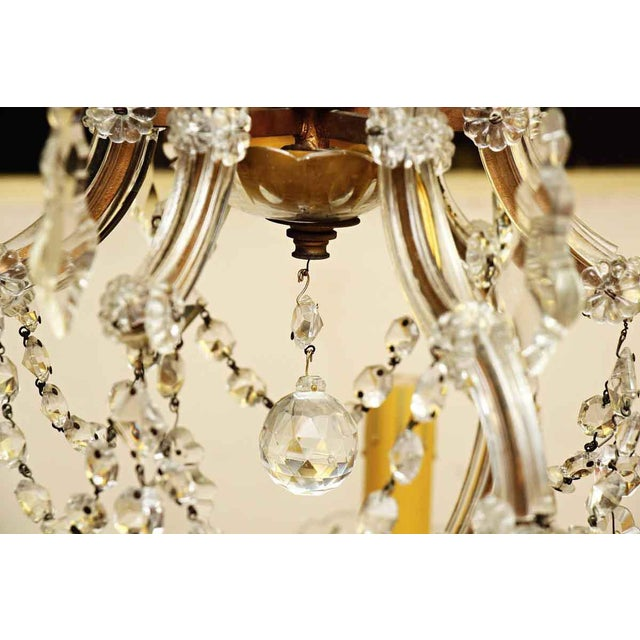 Gold Marie Therese Crystal Antique Chandelier For Sale - Image 8 of 12