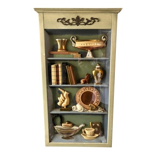 Vintage Turner Wall Accessory Faux Curio Cabinet Wall Art For Sale