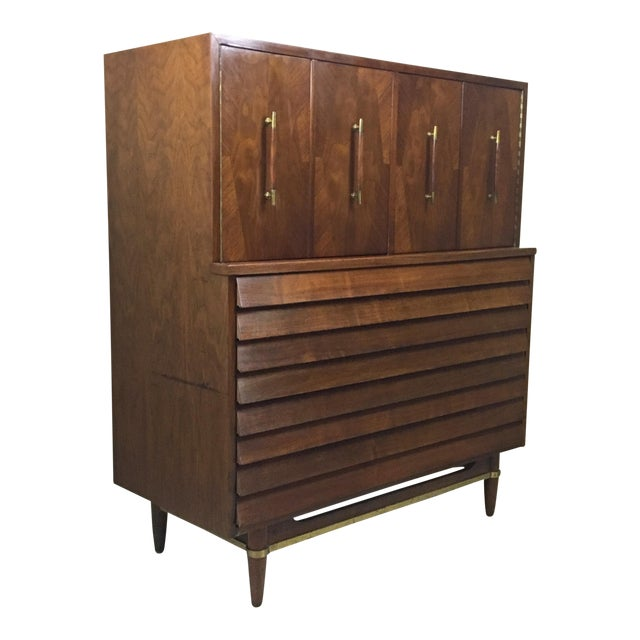 Dania Highboy for American of Martinsville by Merton Gershun For Sale