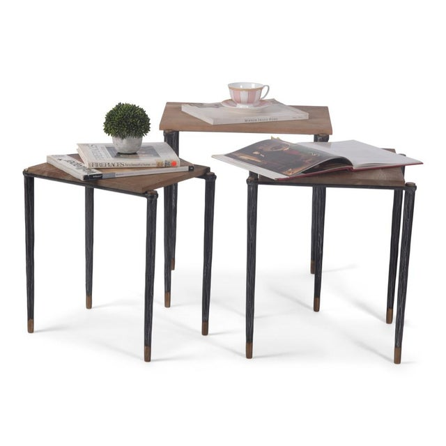 Performance Nesting Tables, Set Of 3 For Sale - Image 9 of 11