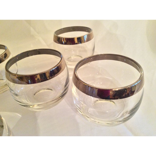 Mid-Century Dorothy Thorpe Inspired Roly Poly Whiskey Glasses - Set of 5 For Sale In Columbus - Image 6 of 13