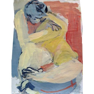 Contemporary Abstract Nude Figure Painting For Sale