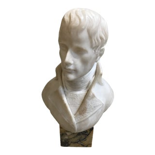 Early 20th Century Antique Marble Bust of Nelson Sculpture For Sale