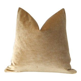 Antique Gold Pillow Cover 18x18 For Sale