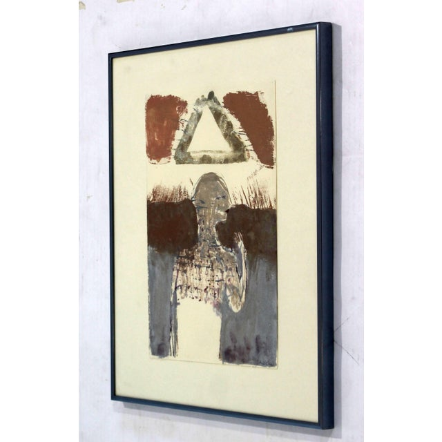 Mid-Century Modern Contemporary Framed Signed Sean Scully Aquatint Etching Signed Surrealist For Sale - Image 3 of 8