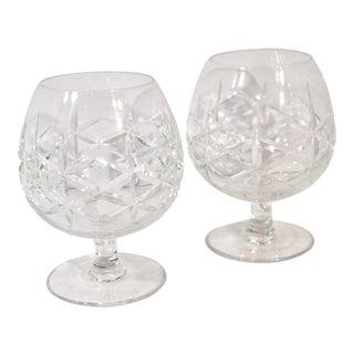 Vintage Brandy Cut Glass Snifters / Cognac Glasses - Set of 2 For Sale