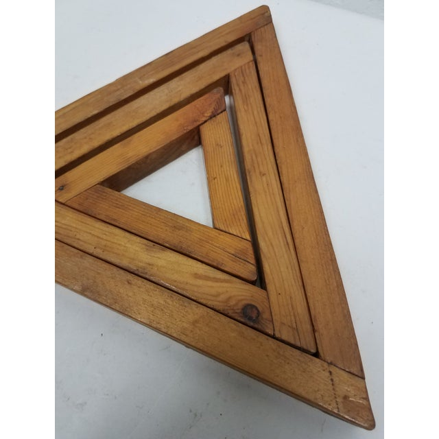 Antique English Wooden Triangular Trivets We liked this trivet set because it was more than a unique trivet set. It could...