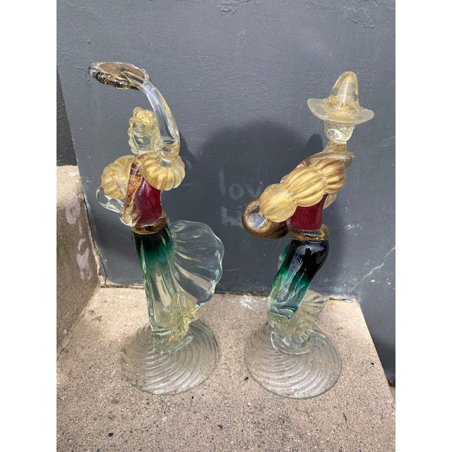 Vintage Murano Glass Figurines - a Pair For Sale - Image 10 of 12