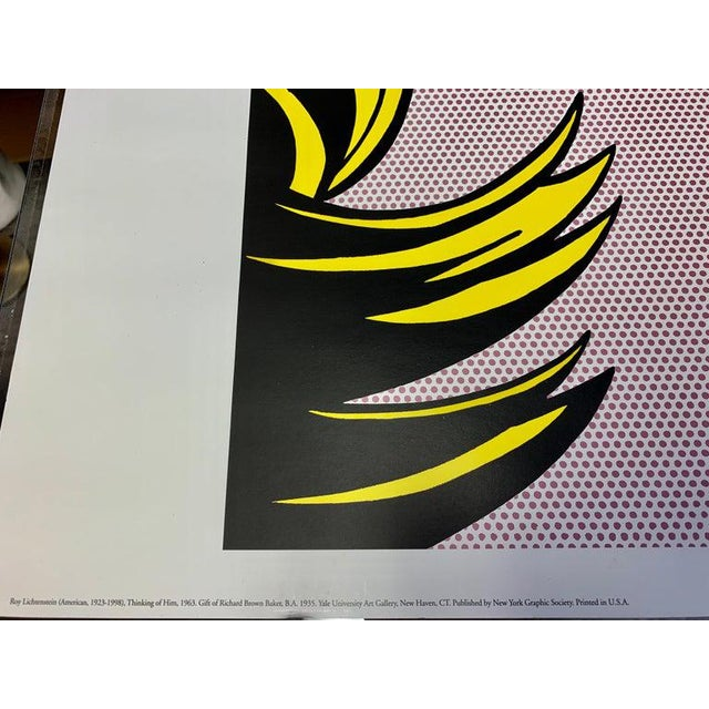 "Modern After Roy Lichtenstein ""Thinking of Him"" For Sale - Image 3 of 9"