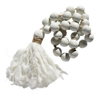 Harper & Wilde Australian Muslin Tassel White Clay Beads For Sale