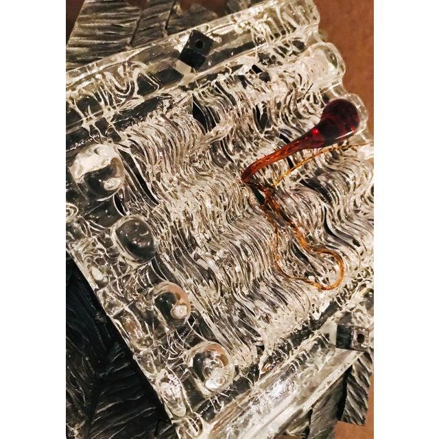 1970s Brutalist Murano Sconces / Flush Mounts - a Pair For Sale - Image 5 of 9