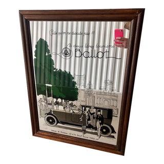 """Vintage Art Deco """"Ballot"""" Automobile Advertisement Mirror For Sale"""