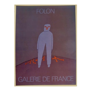 Jean Michel Folon Original French Poster, Galerie de France