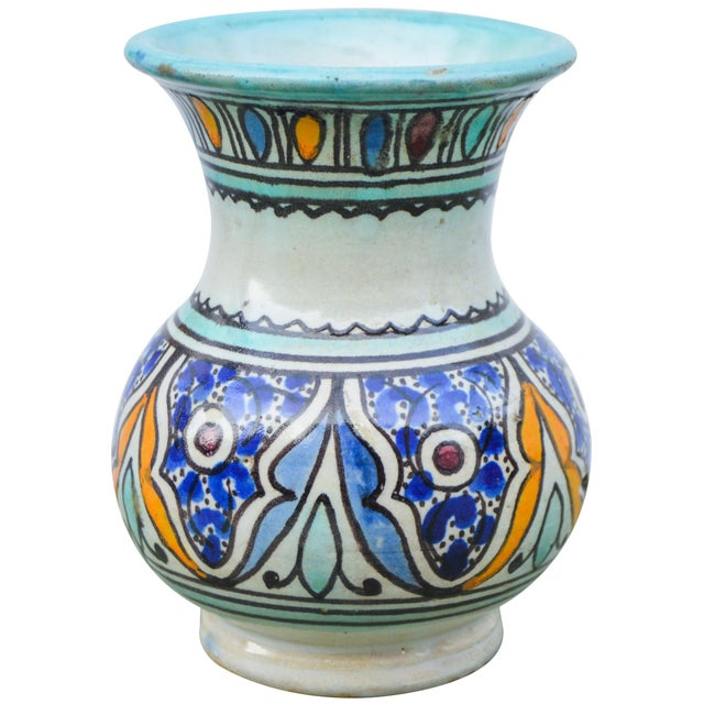 Antique Andalusian Ceramic Vase For Sale - Image 4 of 10