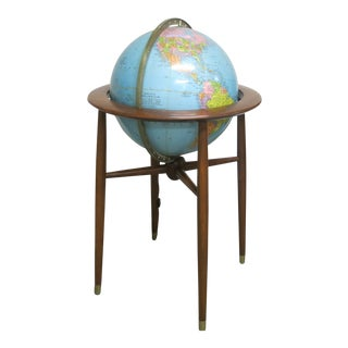 1960s Mid Century Illuminated Replogle Globe For Sale