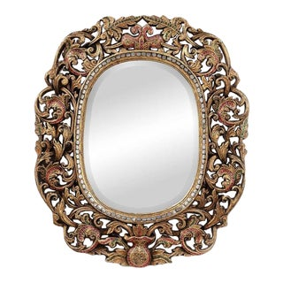 Antique Style Oblong Mirror For Sale
