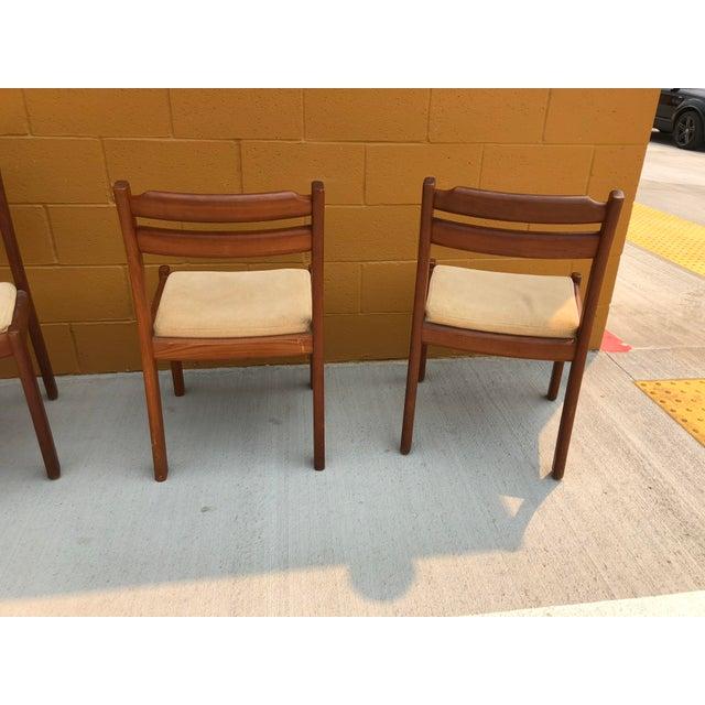 Dyrlund Mid-Century Danish Dyrlund Teak Chairs - Set of 4 For Sale - Image 4 of 7