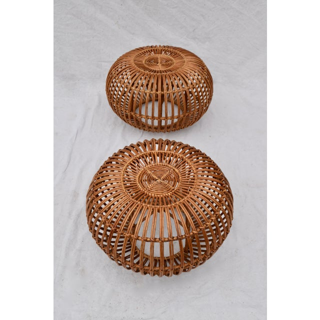 Boho Chic Franco Albini Pouf Ottomans, Pair For Sale - Image 3 of 8