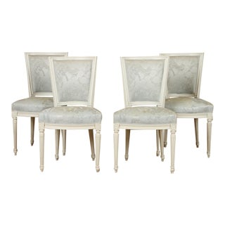 1910s Vintage French Louis XVI Side Chairs - Set of 4 For Sale