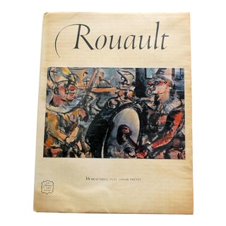 1950s Vintage Rouault Art Book Including 16 Prints For Sale