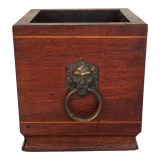 19th Century Antique Wood Planter For Sale