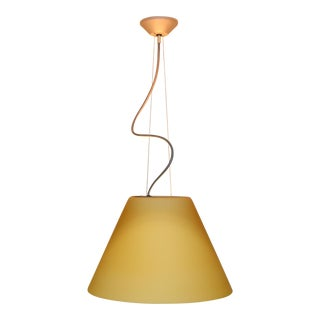 Mid-Century Modern Pendant Lamp by Carlo Nason for Itre Murano Amber Glass For Sale