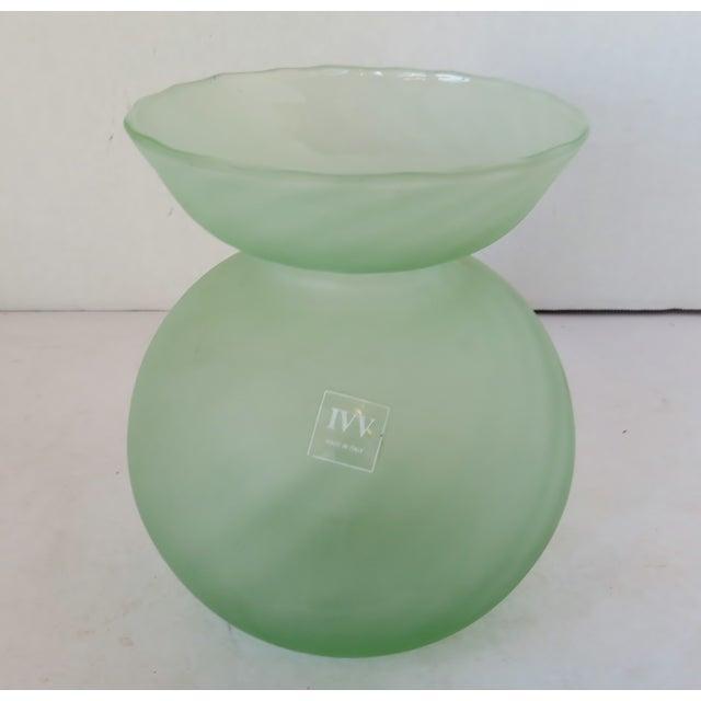 Italian Italian Globe-Shaped Glass Vase For Sale - Image 3 of 6