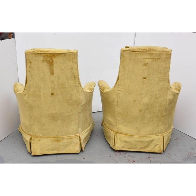 High Back Swivel Tufted Rocker/Lounge Chairs--1960s For Sale - Image 5 of 8