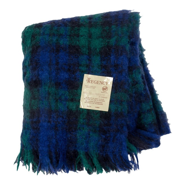 Regency for Molly Roberts Plaid Mohair Blanket For Sale