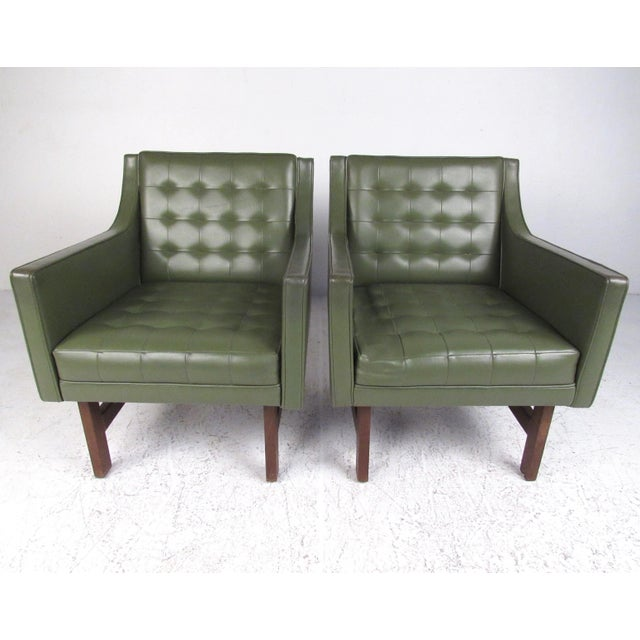 Mid-Century Club Chairs- A Pair For Sale - Image 12 of 12
