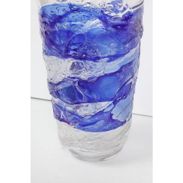 Glass Murano Glass Vase For Sale - Image 7 of 11