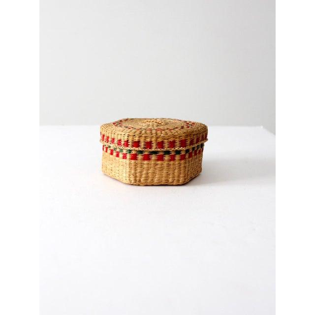 Vintage Sweetgrass Basket For Sale - Image 4 of 10