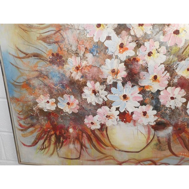 Mid-Century Modern Floral Abstract Painting For Sale - Image 4 of 8