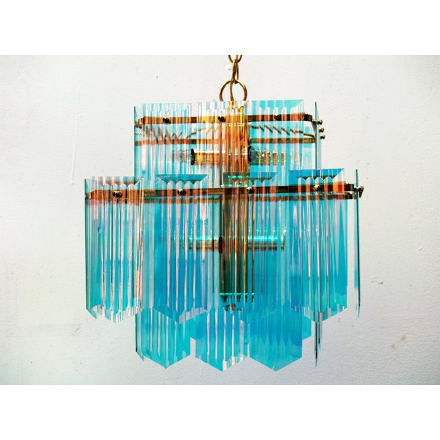 Dichroic Swag Chandelier - Image 5 of 7