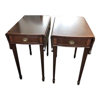 Hepplewhite Reproduction Pembroke Tables - a Pair For Sale