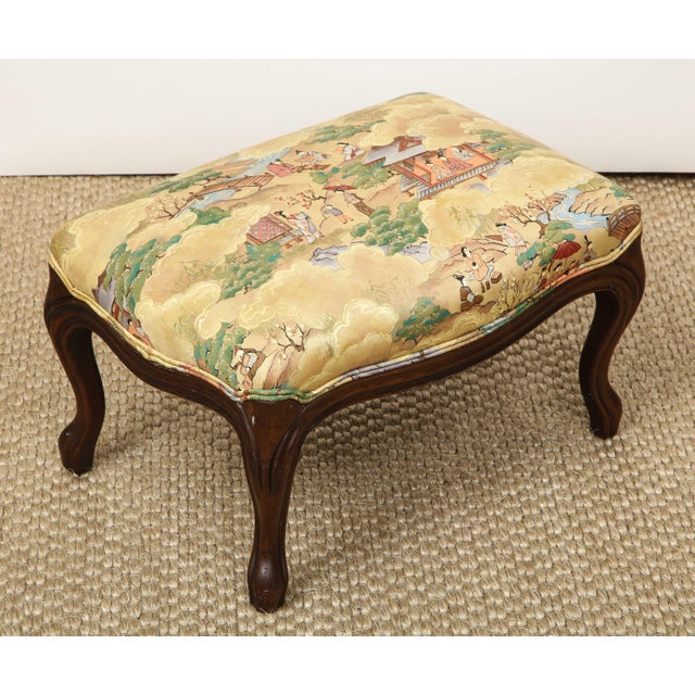 Wood Small Louis XV Style Footstool For Sale - Image 7 of 10