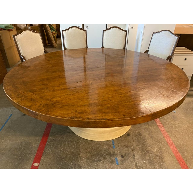 Michael Taylor Table + Set of 10 Custom Design Chairs Dining Set For Sale In San Francisco - Image 6 of 13
