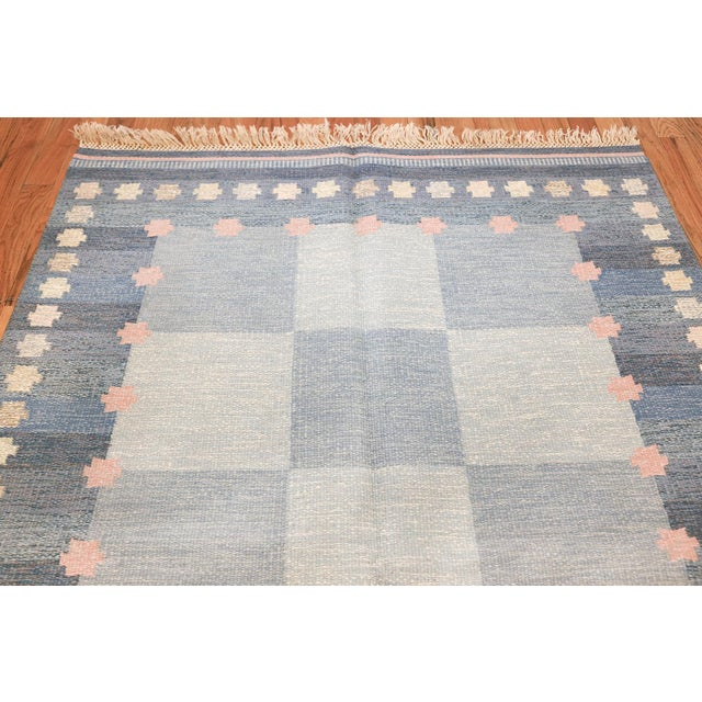Mid 20th Century Vintage Swedish Kilim Rug by Anna-Joanna Angstrom - 5′6″ × 7′9″ For Sale - Image 5 of 9