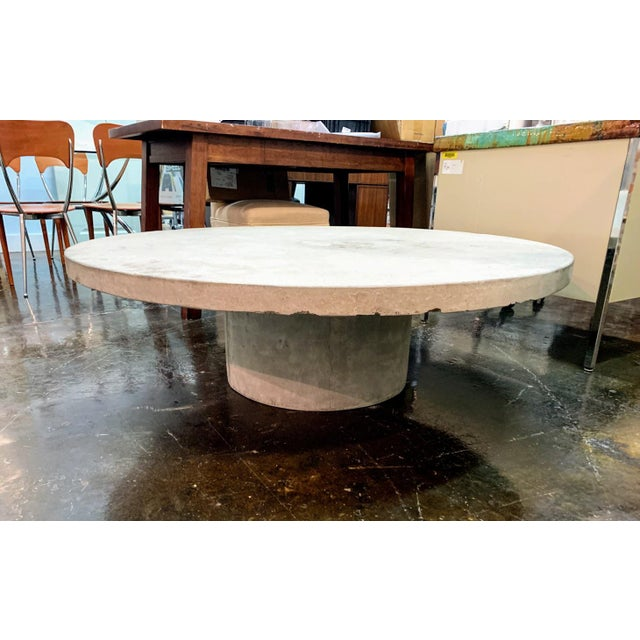 CB2 Indoor / Outdoor Concrete Coffee Table For Sale - Image 4 of 4