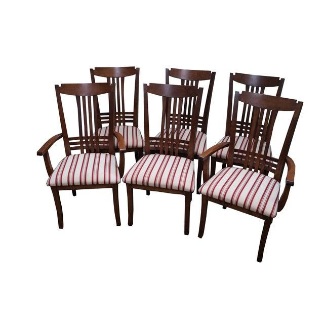 Bermex Traditional Maple Wood Dining Chairs - 6 | Chairish