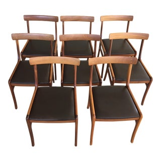 Mid-Century Modern Ole Wanscher Refinished Mahogany Dining Chairs- Set of 8 For Sale