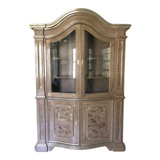 Vintage Chinoiserie Style Display Cabinet For Sale