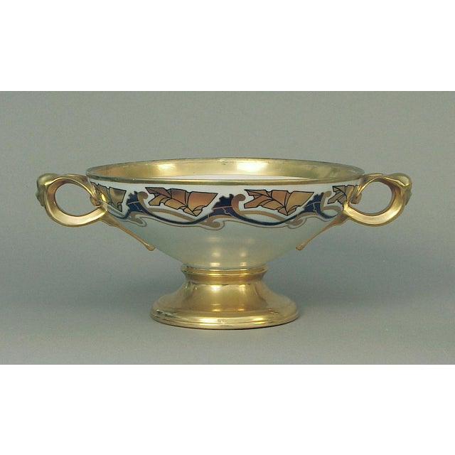 1910s French Art Nouveau Centerpiece Bowl Attributed to Limoges For Sale - Image 5 of 5