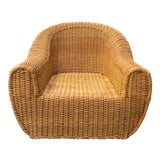 Image of Vintage Wicker Orb Chair For Sale