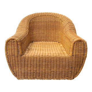 Vintage Wicker Orb Chair For Sale