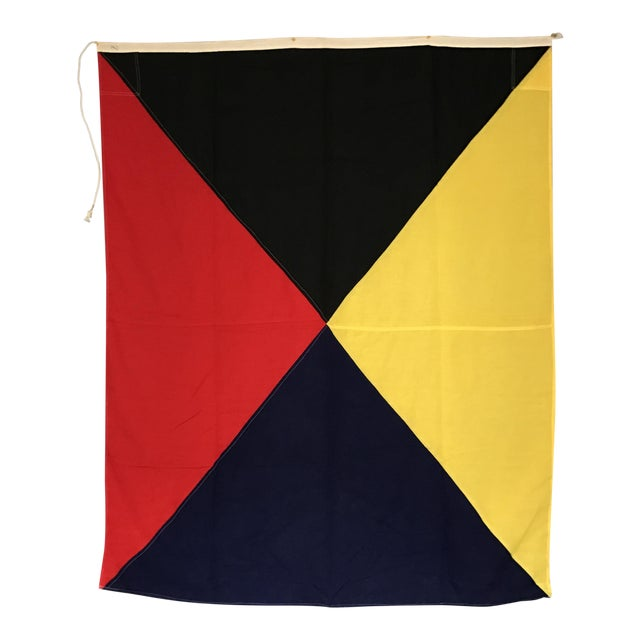 "Vintage Nautical Flag Signal ""Z"" - Image 1 of 5"