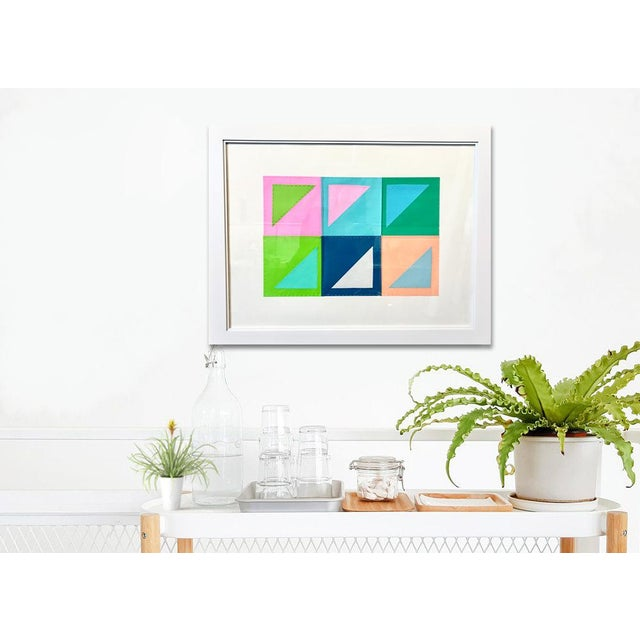 Natasha Mistry Contemporary Geometric Patchwork Collage For Sale - Image 9 of 13