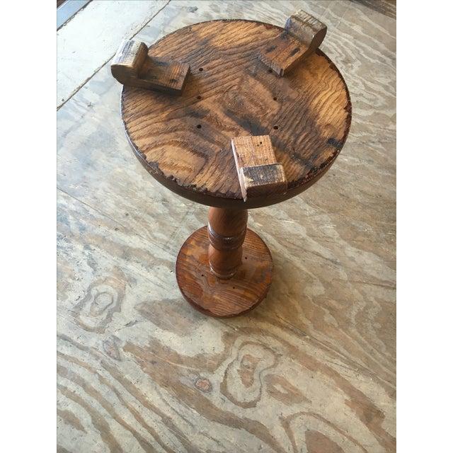 Antique Oak Pedestal Stand - Image 3 of 7